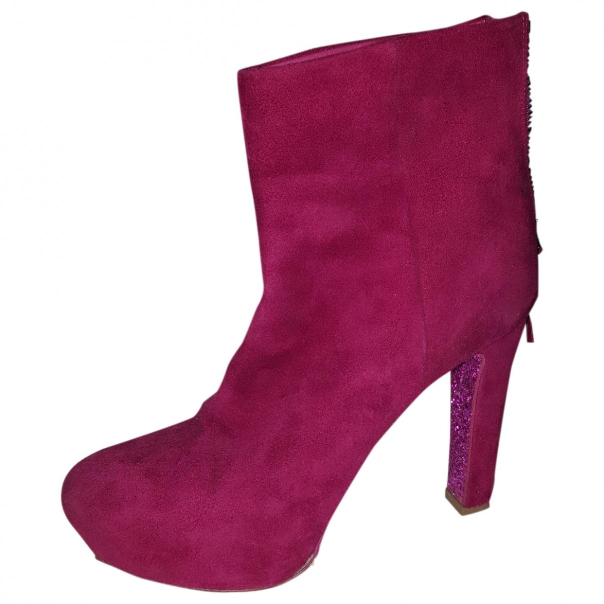 Miu Miu - Boots   pour femme en suede - rose