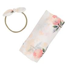 Foto Outfit Decke mit Blumen Muster und Wickel Design & Kopfband