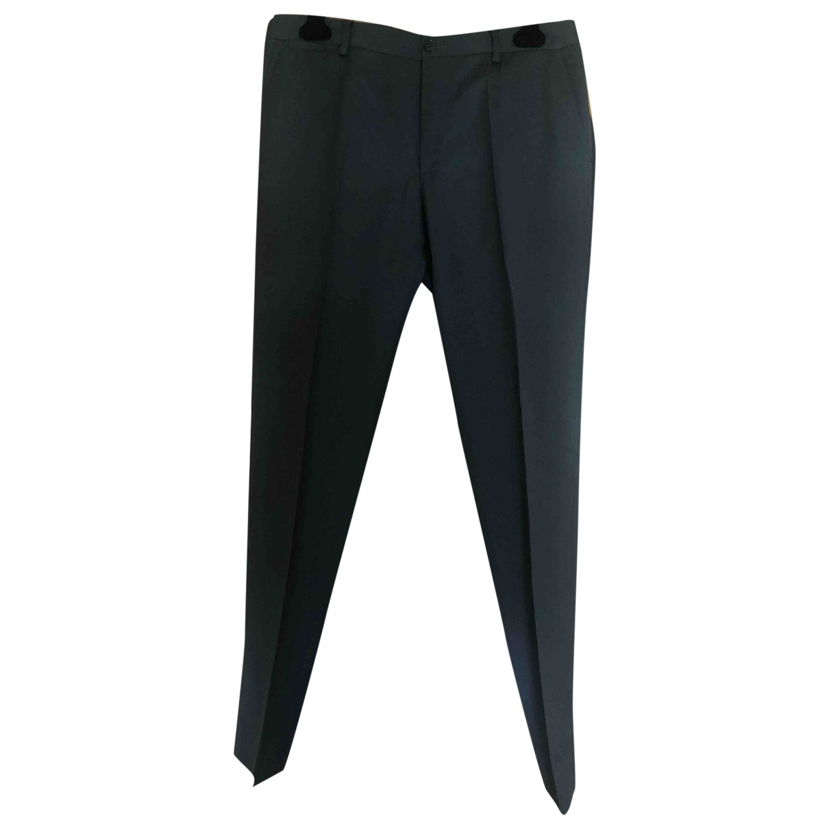 D&g \N Anthracite Wool Trousers for Men 48 IT