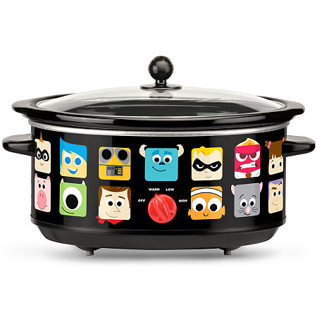 Disney Pixar 7-Quart Oval Slow Cooker, One Size , Black