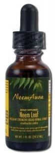 Neem Leaf Extract Organic, With/ALC1 Oz by Neemaura