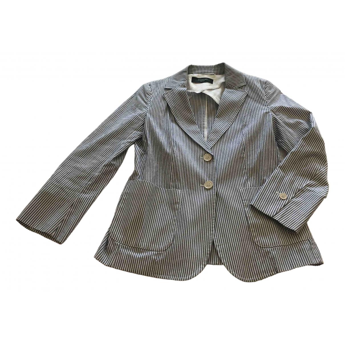 Max Mara Weekend \N Navy Cotton jacket for Women 38 FR