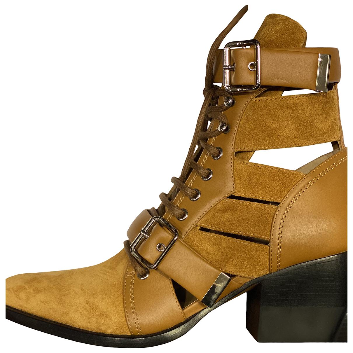 Chloe - Boots Rylee pour femme en suede - marron
