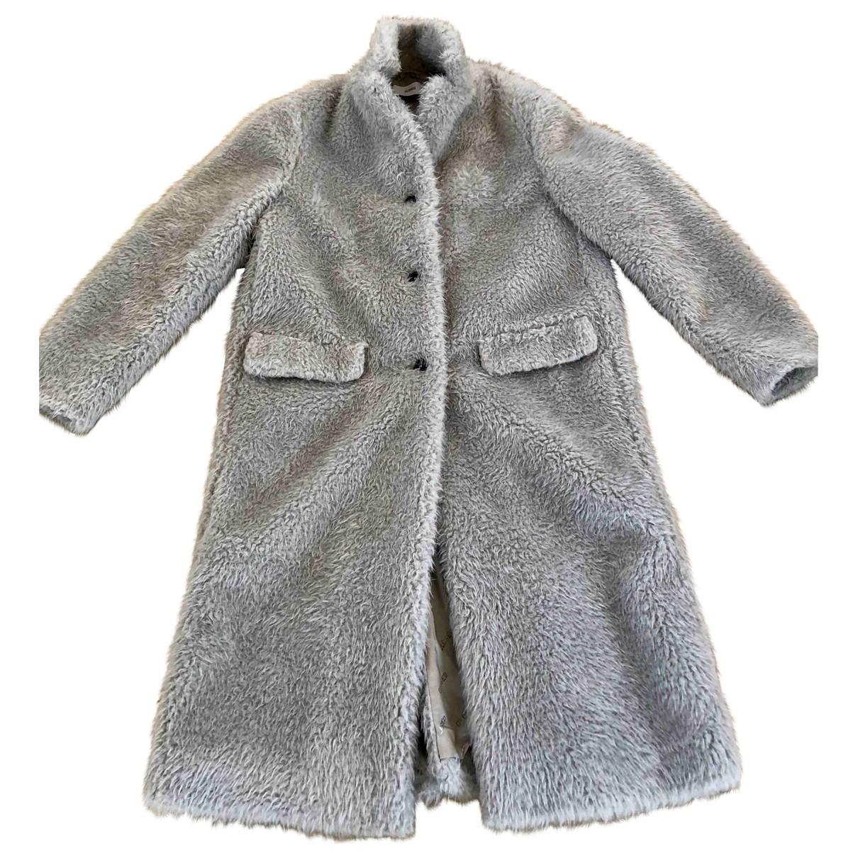 Closed - Manteau   pour femme en fourrure synthetique - ecru
