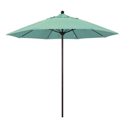 ALTO908117-48020 9' Venture Series Commercial Patio Umbrella With Bronze Aluminum Pole Fiberglass Ribs Push Lift With Sunbrella 1A Spectrum Mist