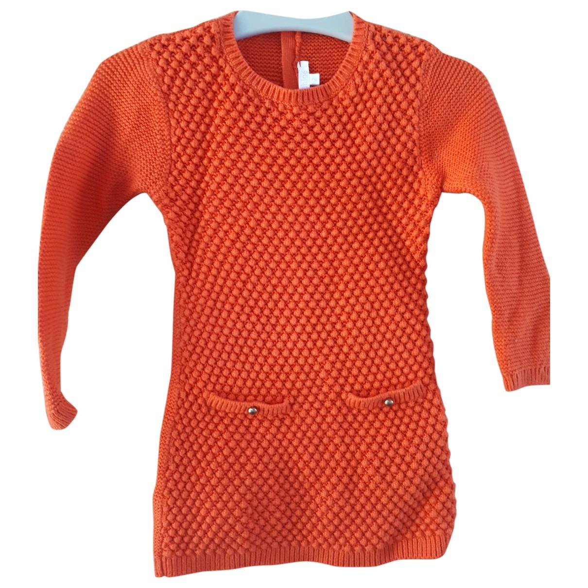 Chloe - Robe    pour enfant en coton - orange