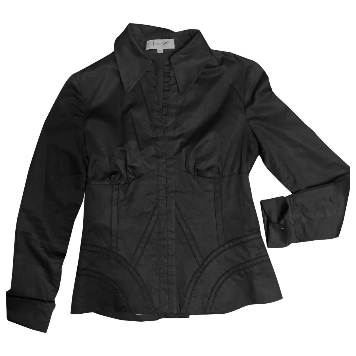 Hoss Intropia - Top   pour femme en coton - noir
