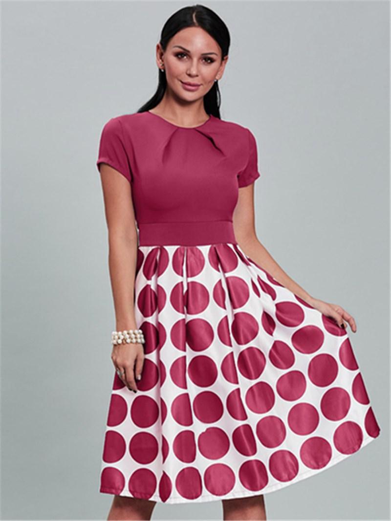 Ericdress Ball Gown Polka Dots A Line Dress