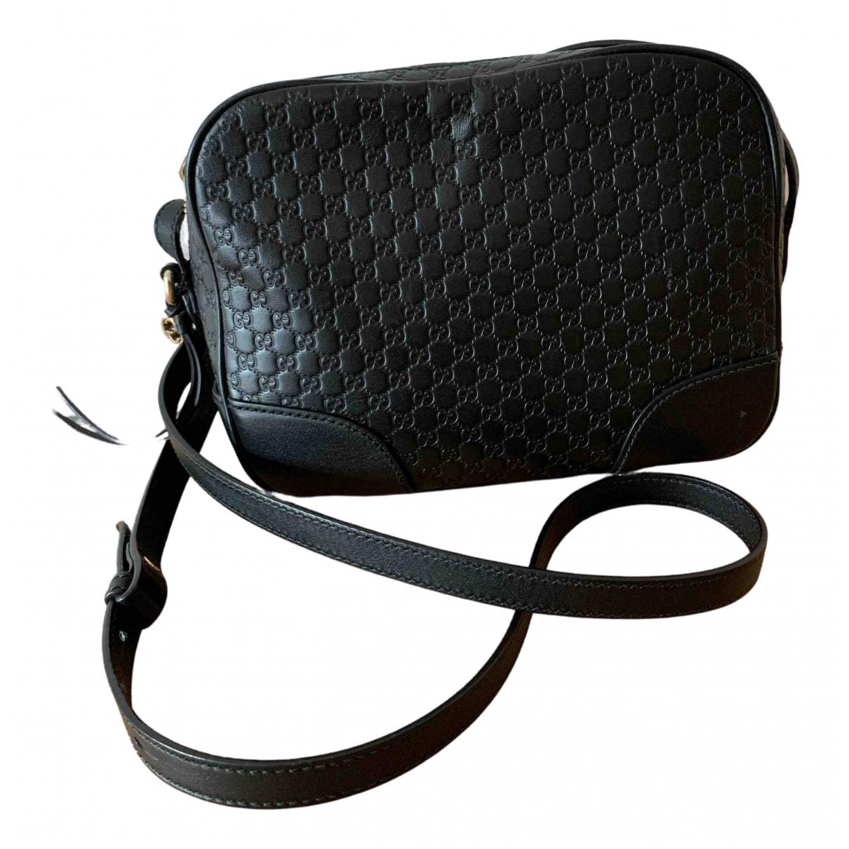 Gucci Bree Handtasche in  Schwarz Leder