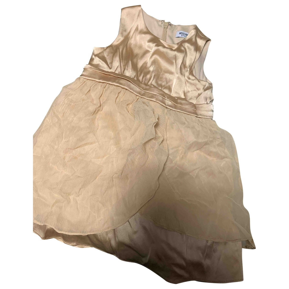 Moschino - Robe    pour enfant en soie - dore