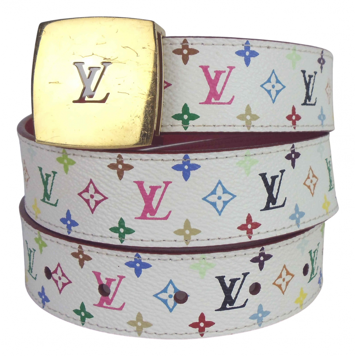 Louis Vuitton \N Multicolour Leather belt for Women 80 cm