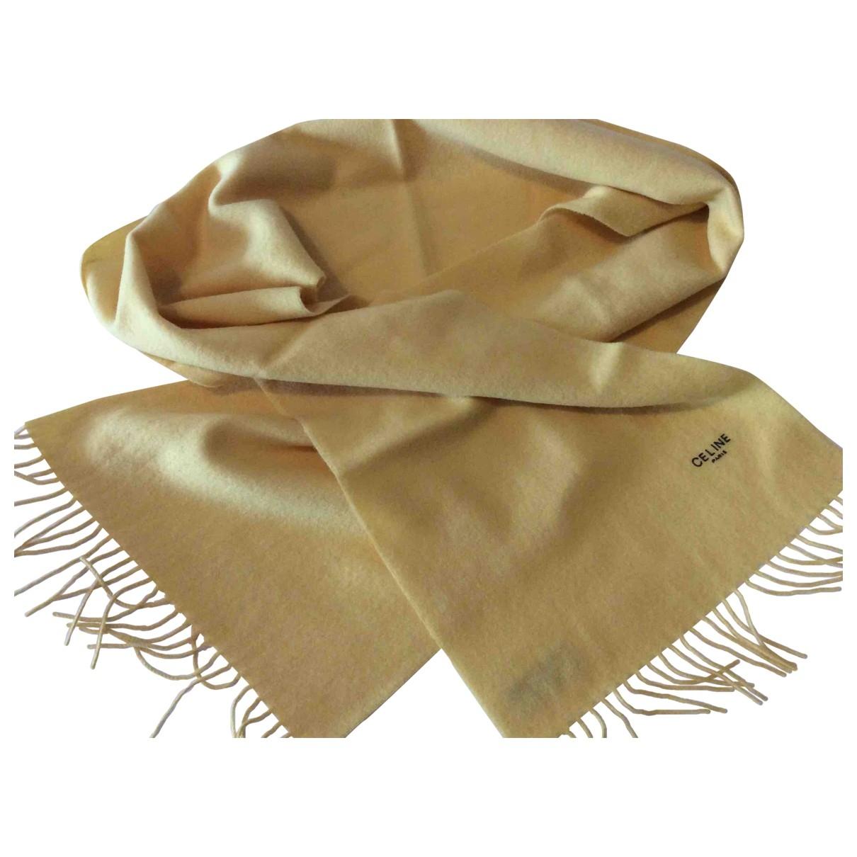 Celine \N Yellow Wool scarf for Women \N