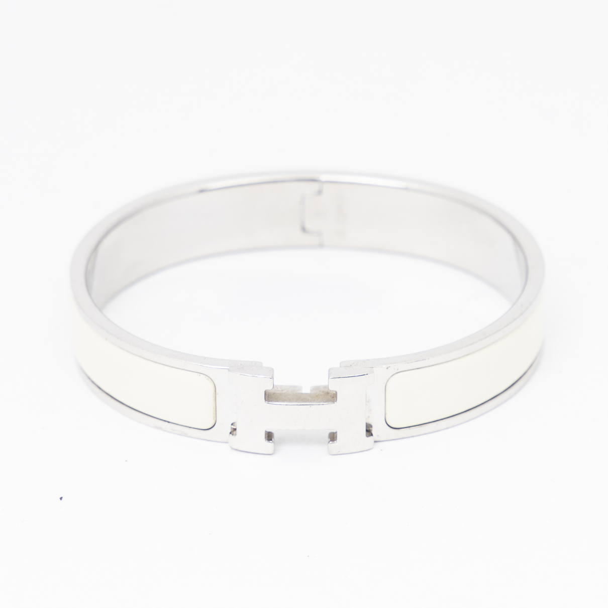 Hermes Clic H Armband Weiss