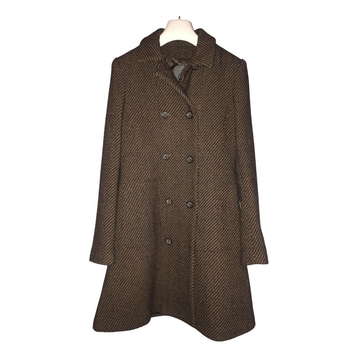 Calvin Klein - Manteau   pour femme en laine - marron