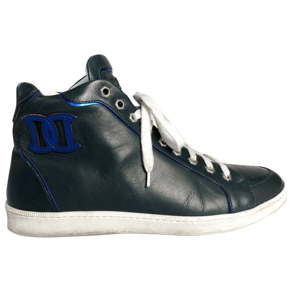 Dsquared2 - Baskets   pour homme en cuir - bleu