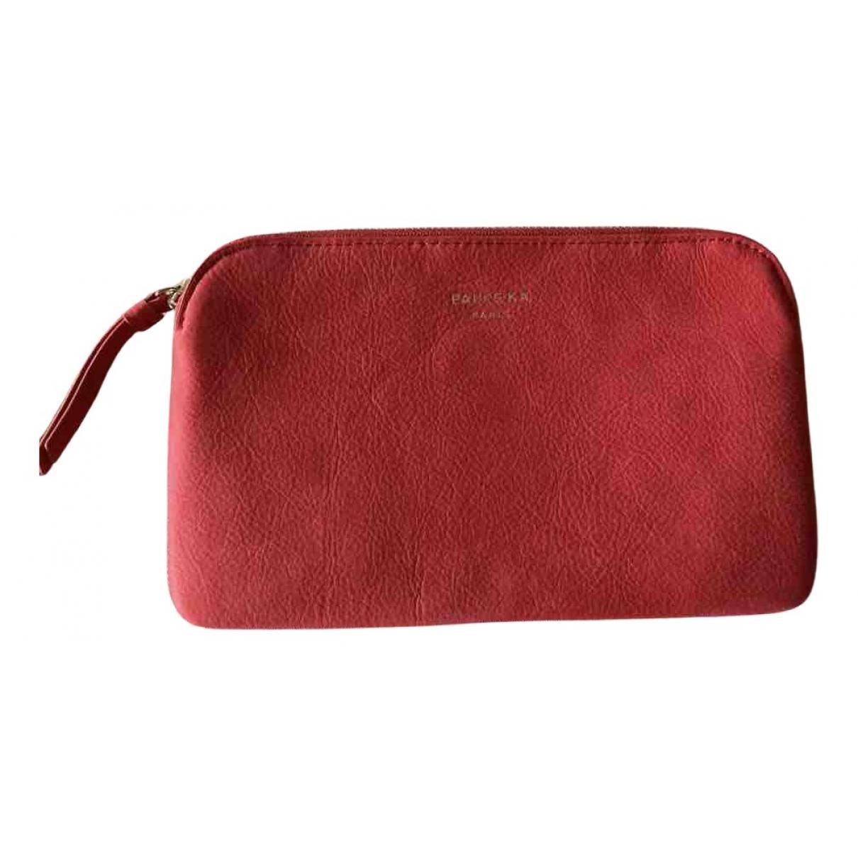 Paule Ka - Petite maroquinerie   pour femme en cuir - rose