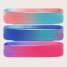3 Stuecke Widerstandsband fuer Gesaesstraining mit Farbverlauf