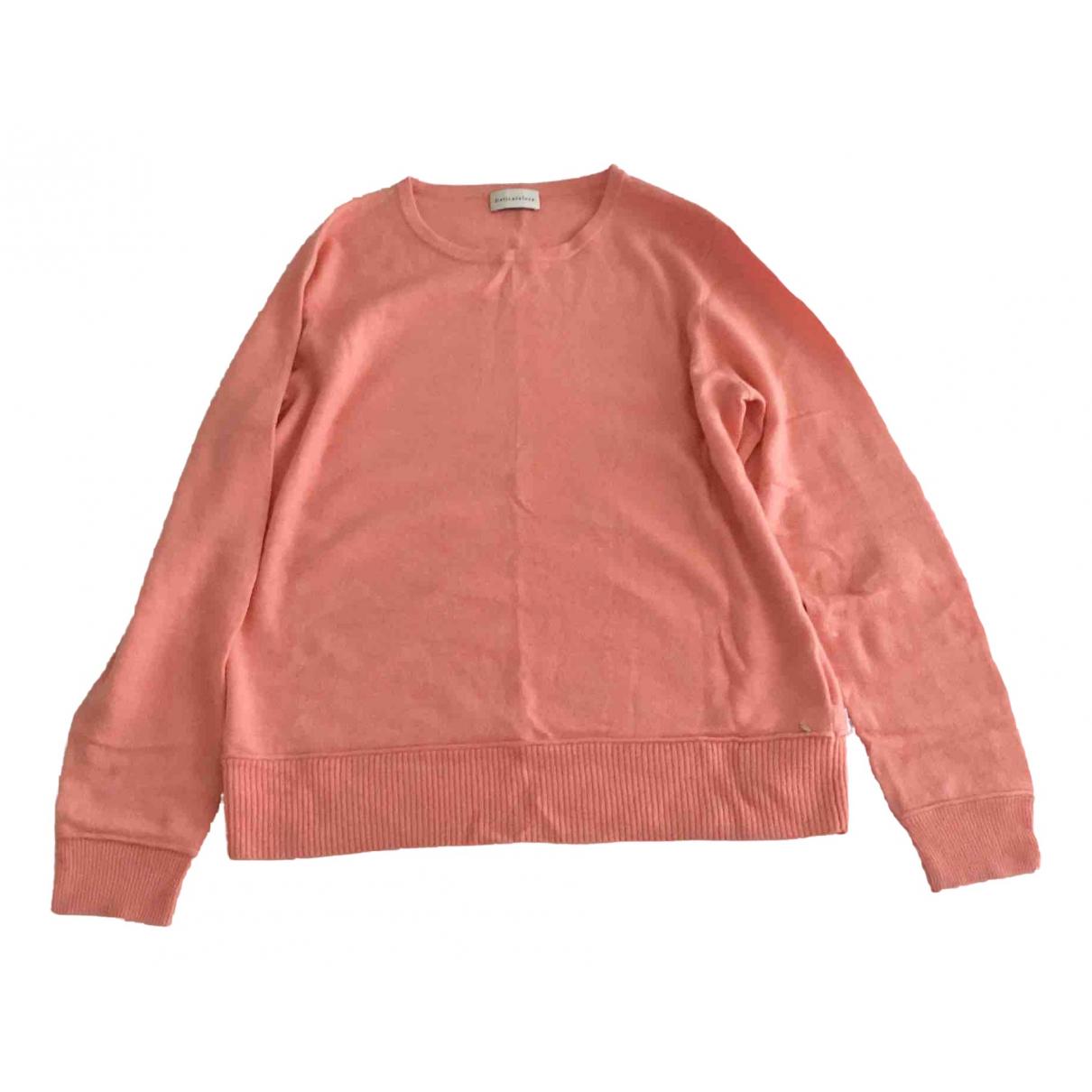 Delicatelove - Pull   pour femme en laine - rose