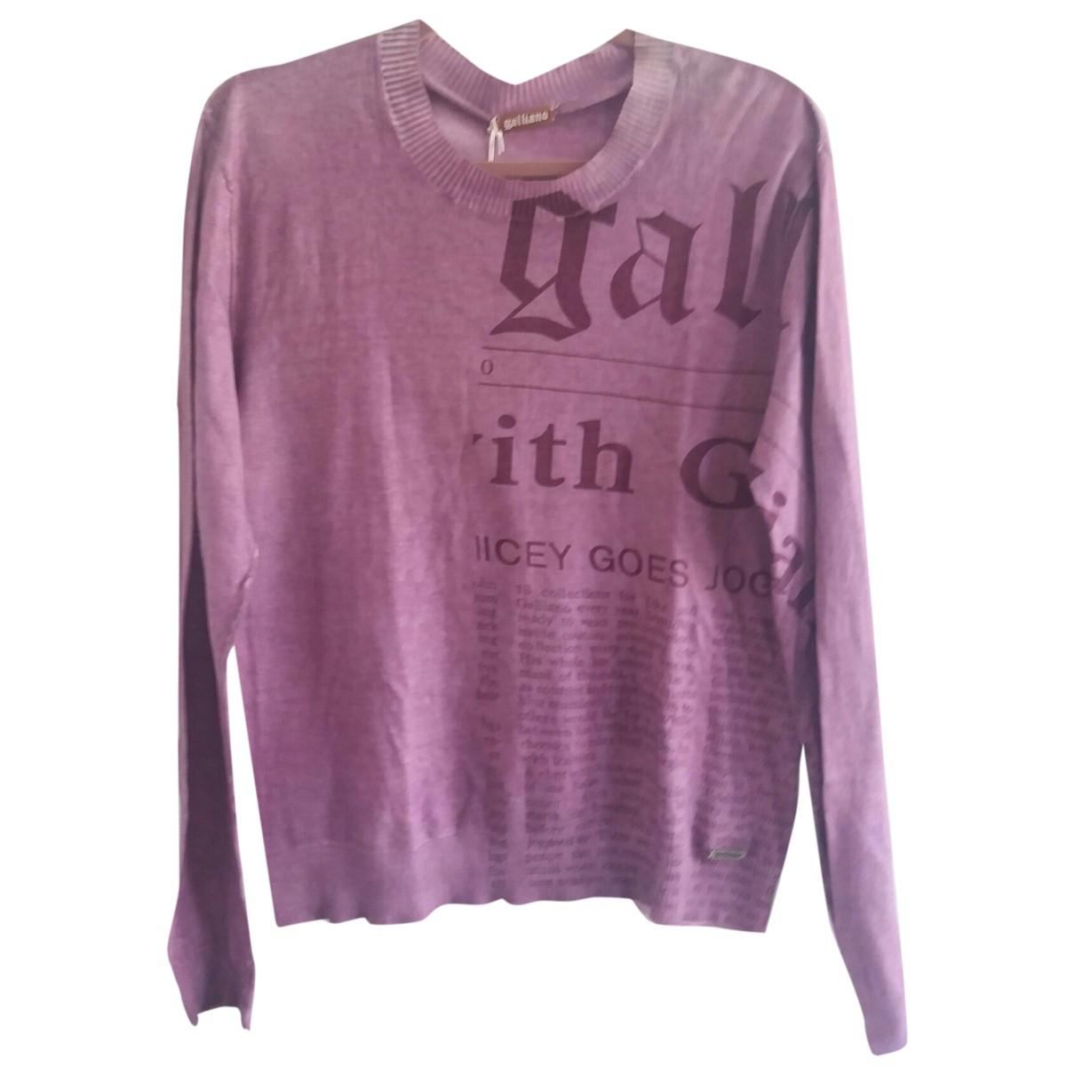 John Galliano \N Pullover.Westen.Sweatshirts  in  Lila Baumwolle