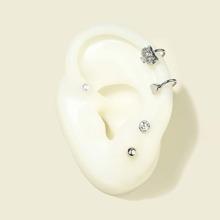 4 Stuecke Ohrringe mit Kunstperlen Dekor
