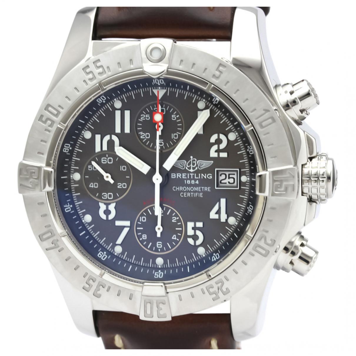 Breitling Avenger Uhr in  Grau Stahl