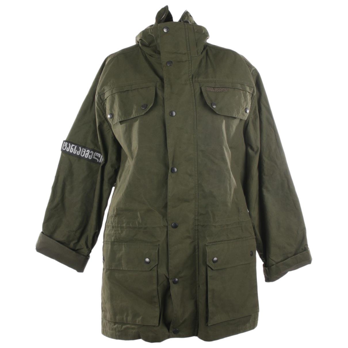 Vetements - Veste   pour femme en coton - vert