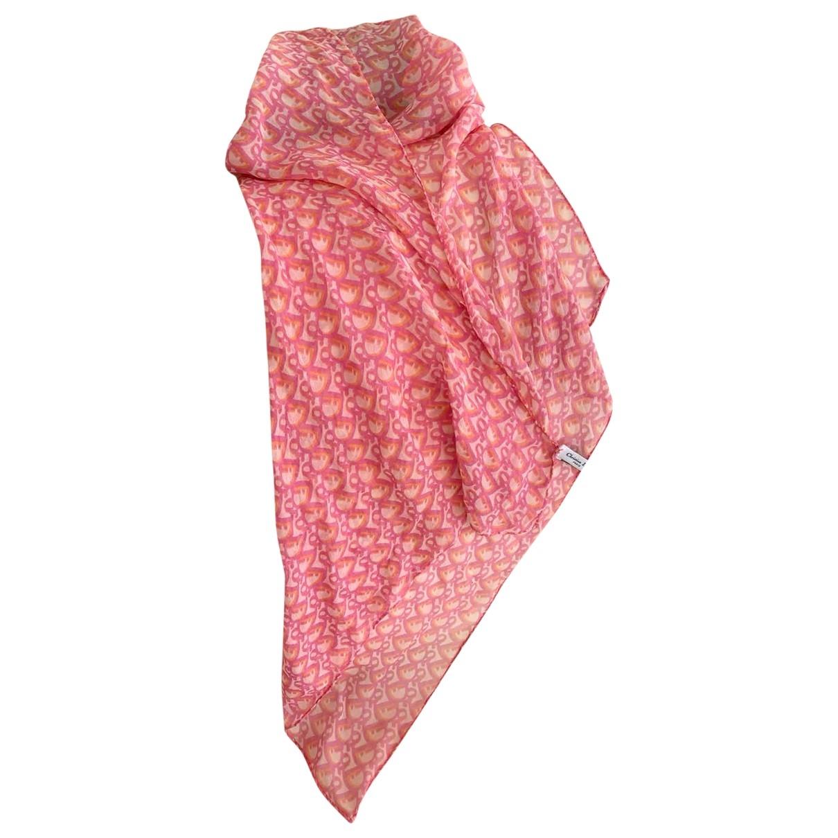 Dior \N Pink Silk scarf for Women \N
