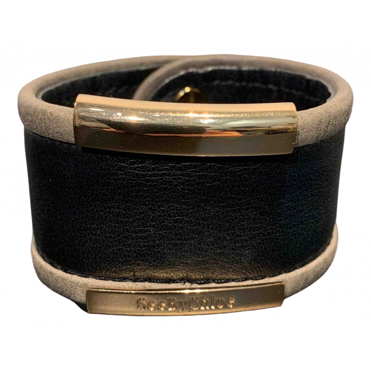 See By Chloe \N Armband in  Schwarz Leder
