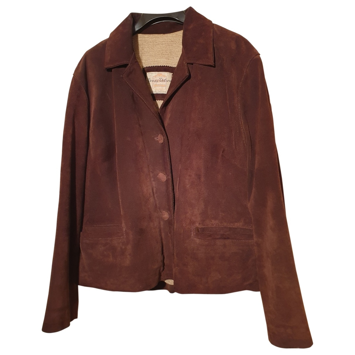 Non Signé / Unsigned \N Brown Leather jacket for Women M International