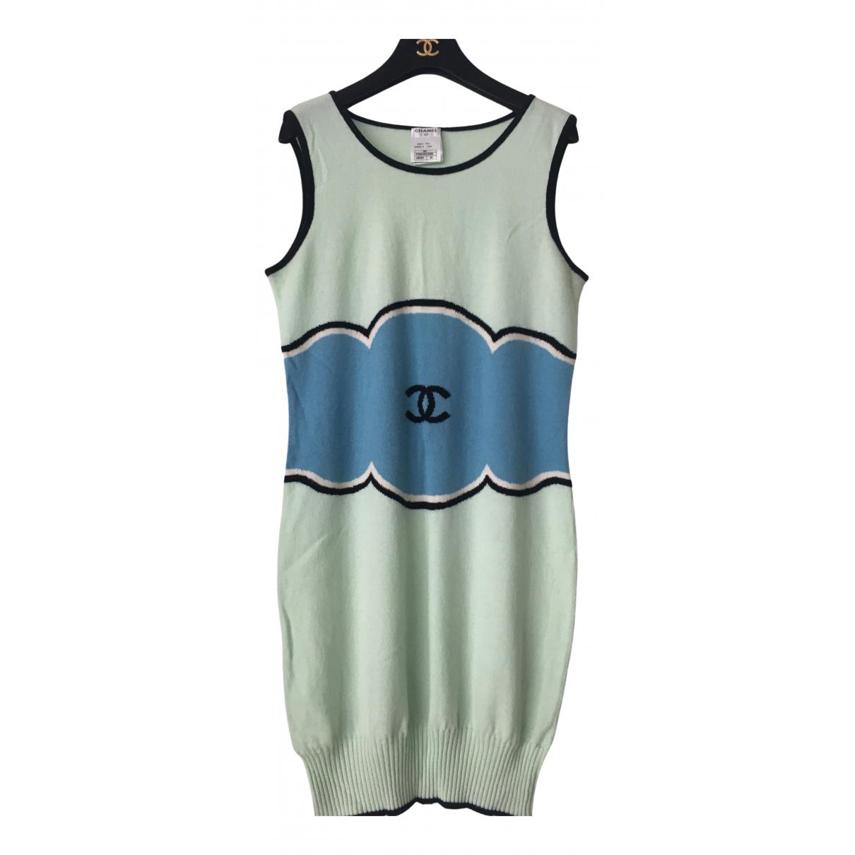 Chanel - Robe   pour femme en cachemire - vert