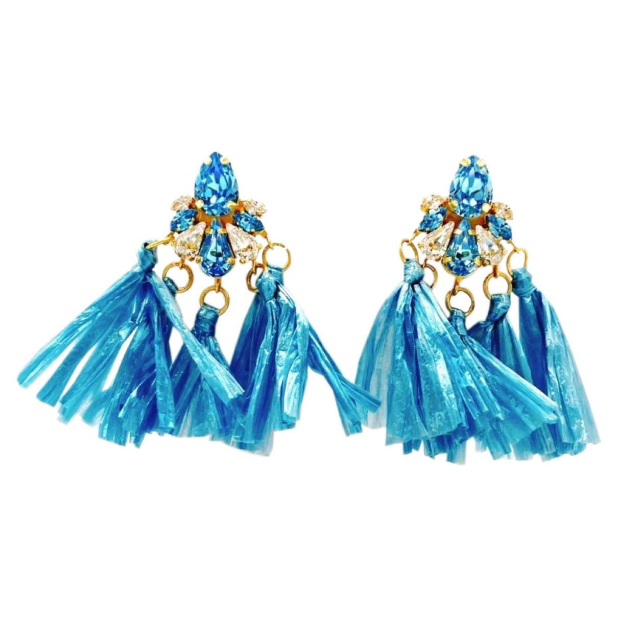Shourouk \N Blue Metal Earrings for Women \N