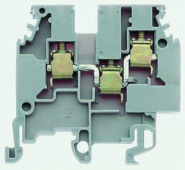 Entrelec , SNA, 800 V ac Standard Din Rail Terminal, Screw Termination, Blue (10)