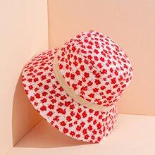 Sombrero cubo con flor