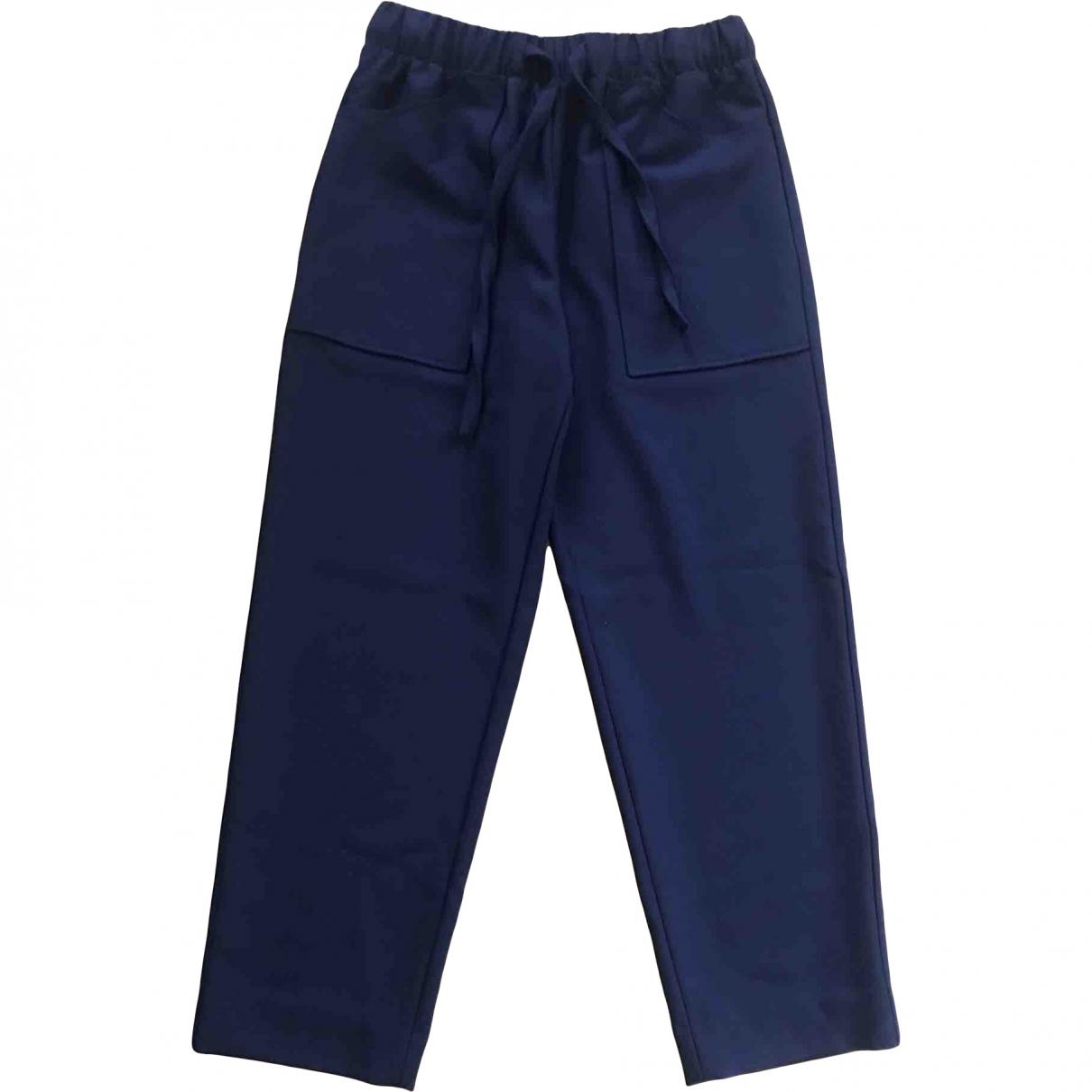 Maje \N Navy Trousers for Women 38 FR