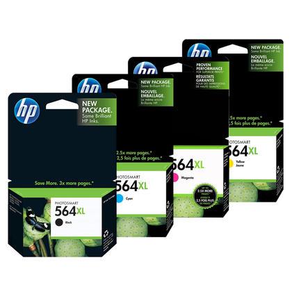 HP 564XL CN684WN CB323WN CB324WN CB325WN Original Ink Cartridge Combo High Yield BK/C/M/Y