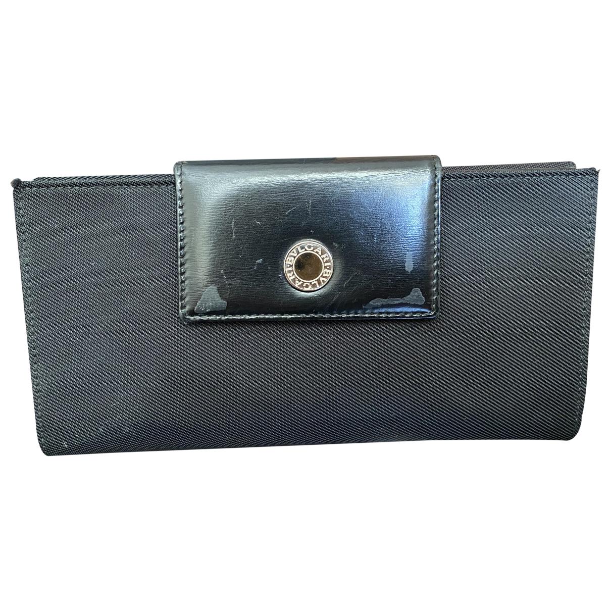 Bvlgari - Portefeuille   pour femme en toile - noir