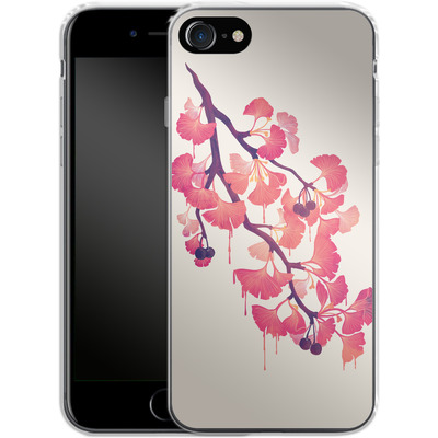 Apple iPhone 8 Silikon Handyhuelle - Ginko von Little Clyde