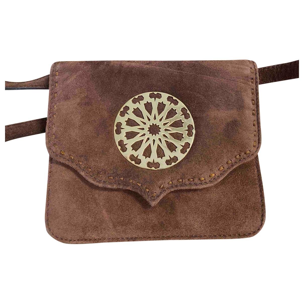 Mehry Mu \N Handtasche in  Braun Veloursleder