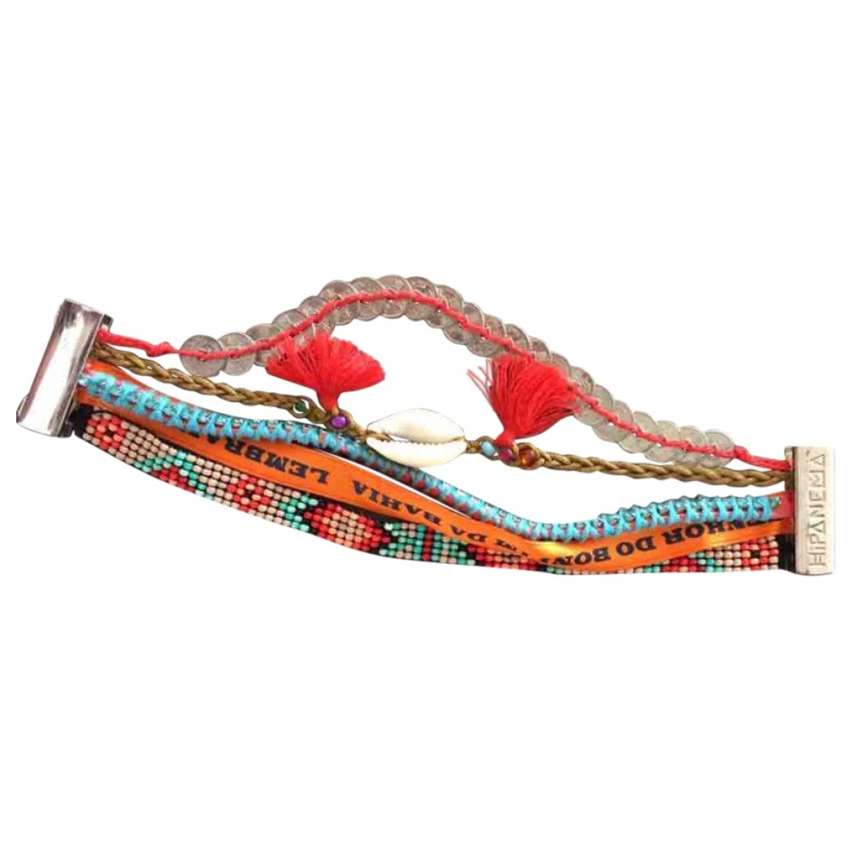 Hipanema \N Armband in  Rot Leinen