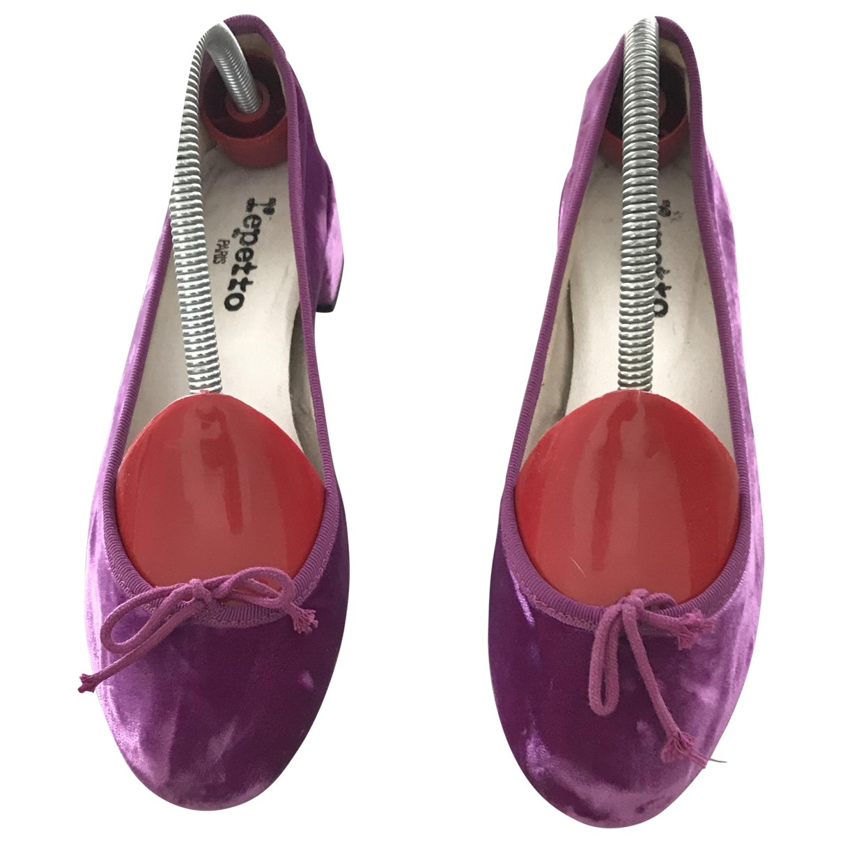 Repetto - Ballerines   pour femme en velours - rose