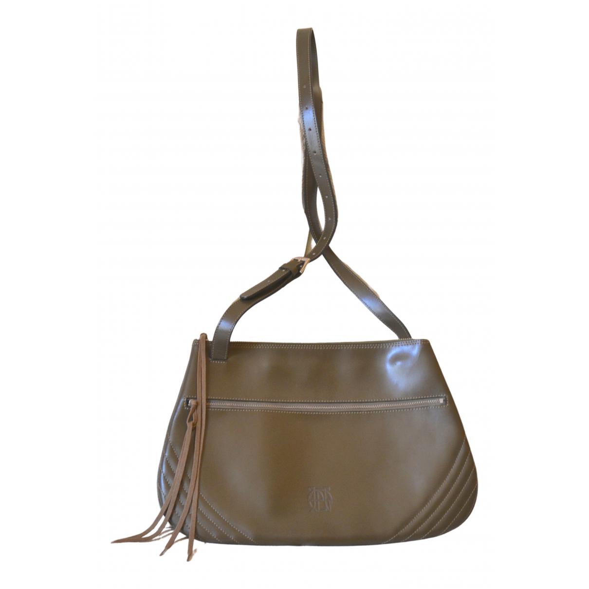 Jean Paul Gaultier \N Khaki Leather handbag for Women \N