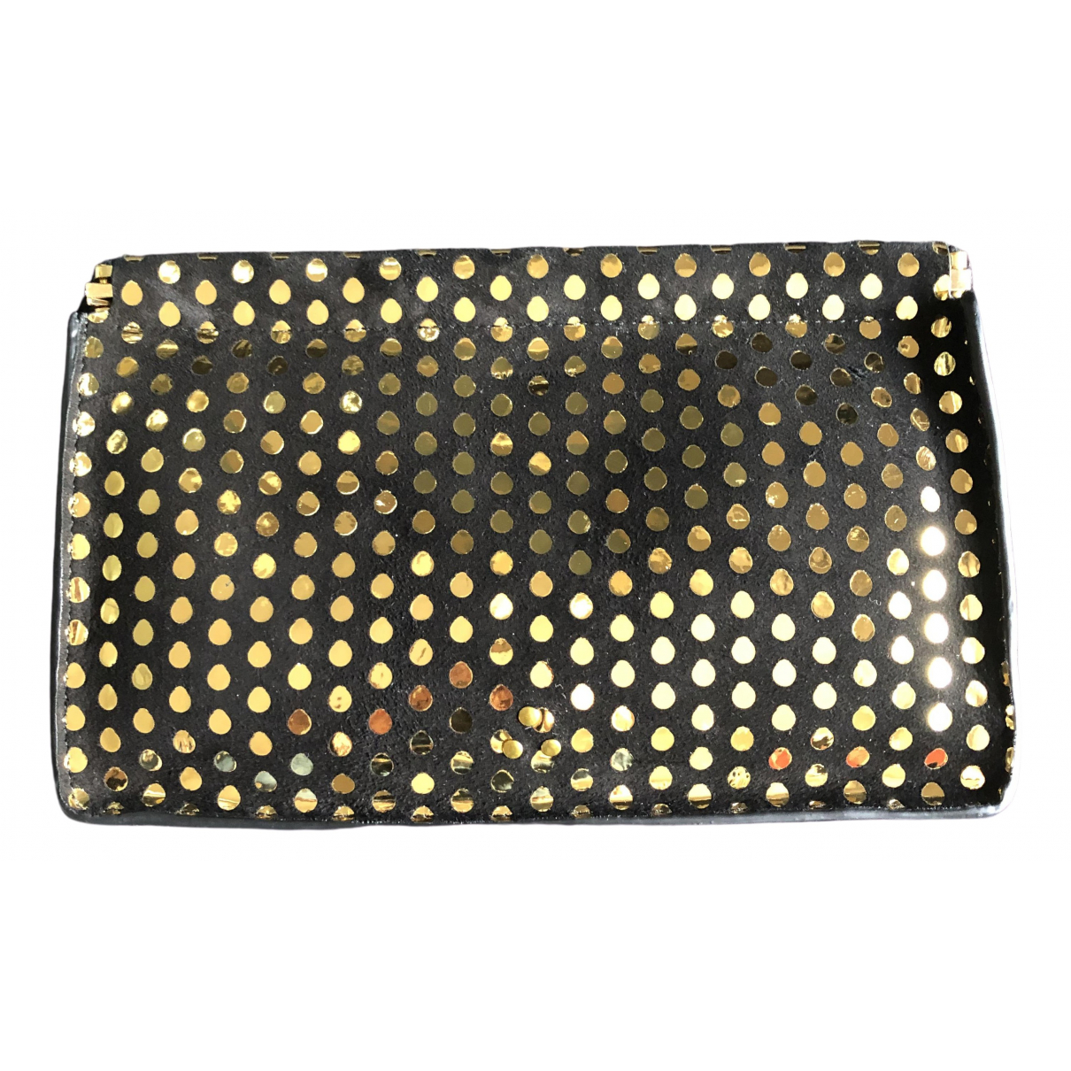 Jerome Dreyfuss \N Clutch in  Gold Veloursleder