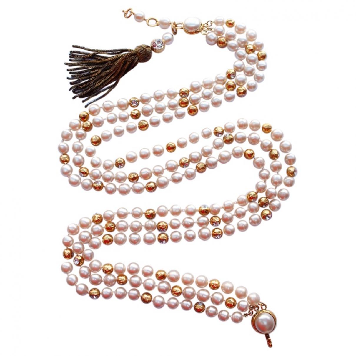 Chanel \N Guertel in  Gold Perlen