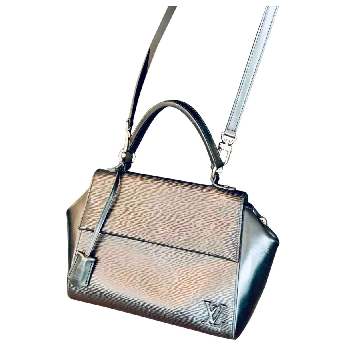 Louis Vuitton - Sac a main Cluny pour femme en cuir - noir