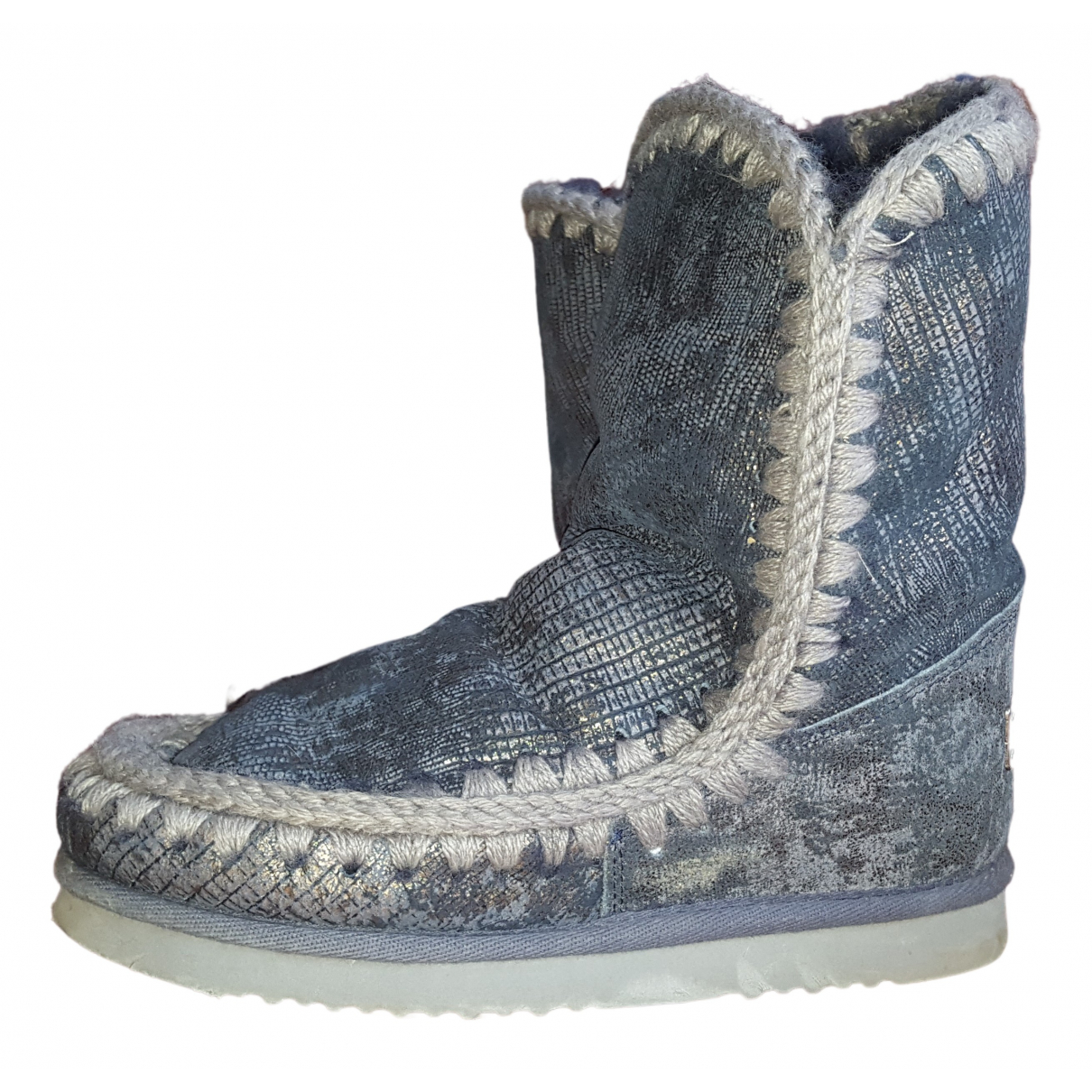 Mou N Blue Glitter Ankle boots for Women 38 EU