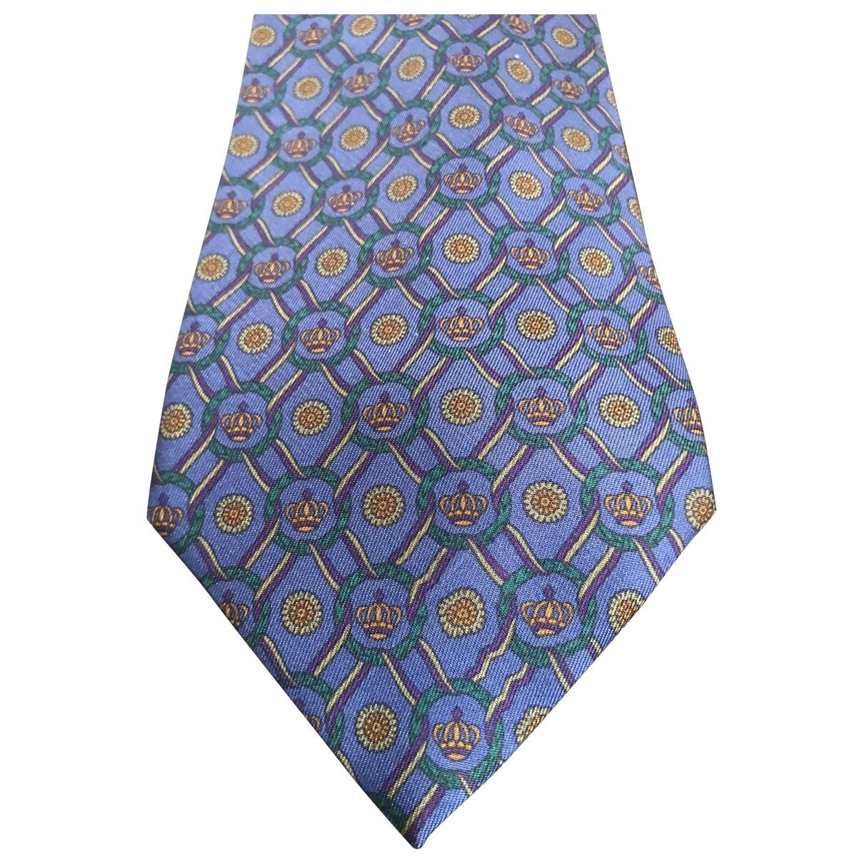 Saint Laurent \N Krawatten in  Blau Seide
