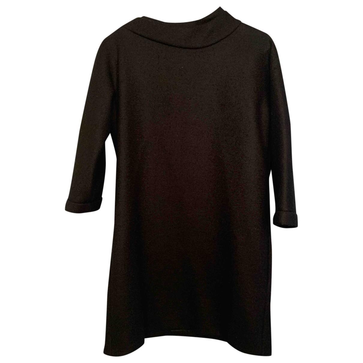 Bouchra Jarrar \N Kleid in  Schwarz Wolle