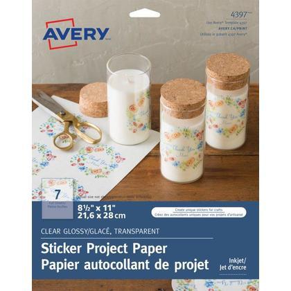 Avery@ Papier de projet autocollant brillant, 8-1/2 x 11