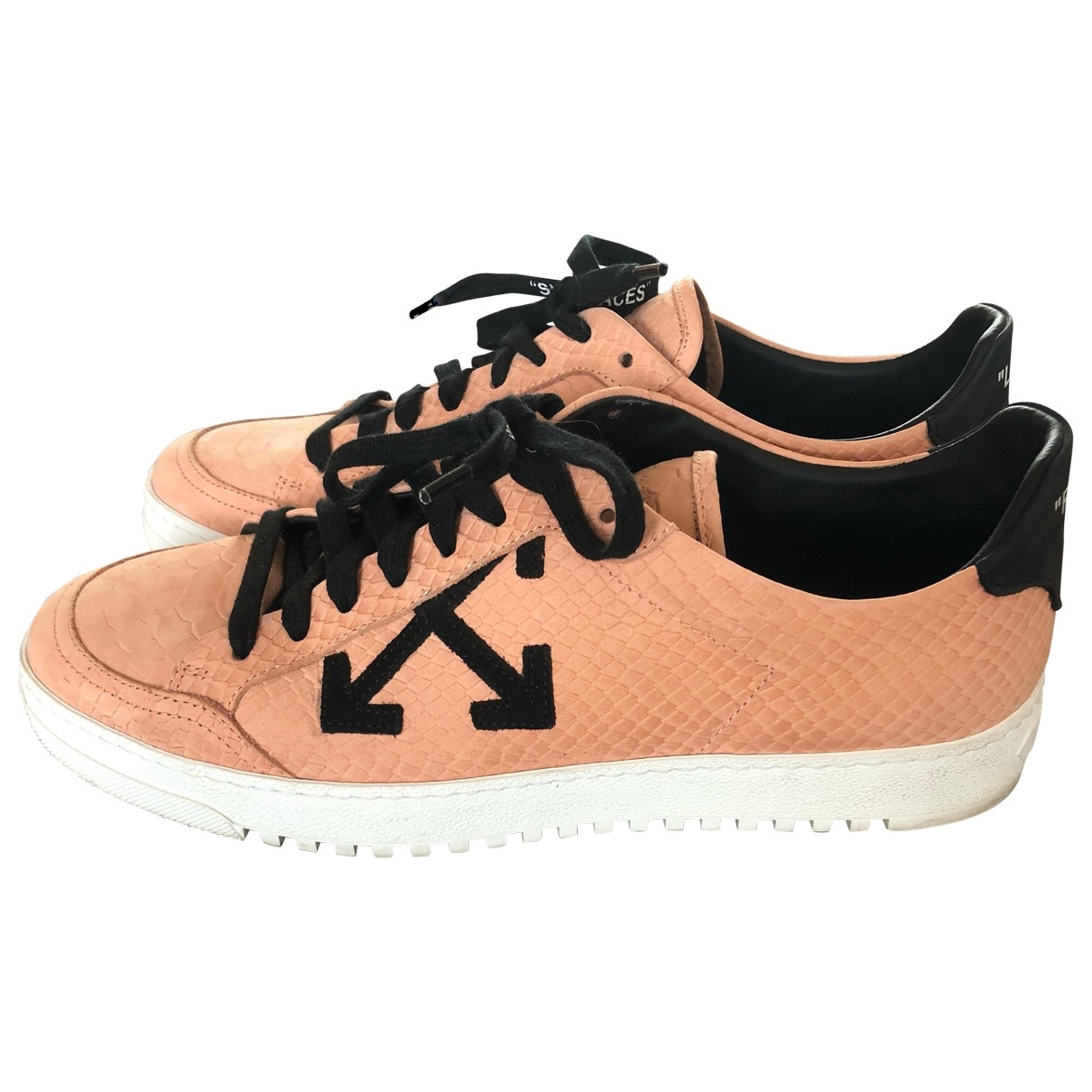 Off-white - Baskets Low 2.0 pour femme en cuir - rose
