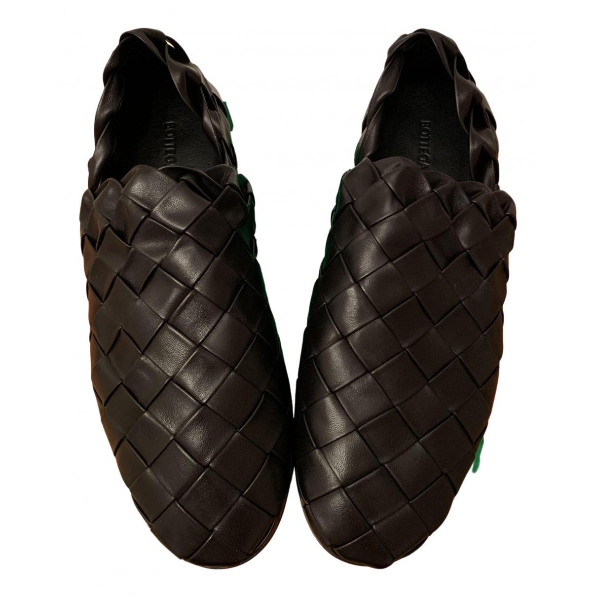 Bottega Veneta N Black Leather Flats for Women 36 EU
